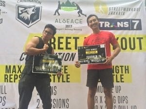 Mahasiswa Telkom University Raih Juara 1 & 2 di Street Workout Competion 2017